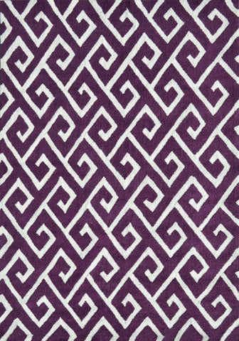 Rug Market America Pop Accents Greek Aubergine/White Area main image