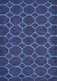 Rug Market America Pop Accents Honeycomb Blue Dark Blue/Light Area 5' 0'' X 7' 0''