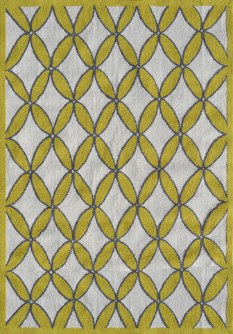 Rug Market America Pop Accents Diamonds Yellow Yellow/Gray/White Area main image