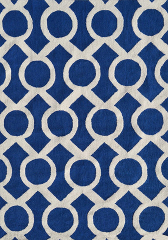 Rug Market America Pop Accents Medal Navy Navy/White Area main image