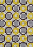 Rug Market America Pop Accents Rounders Yellow Yellow/White/Taupe Area 7' 0'' X 10' 0''