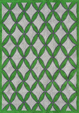 Rug Market America Pop Accents Diamonds Green Green/Gray/White Area main image