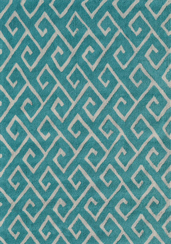 Rug Market America Pop Accents Greek Blue Blue/White Area main image