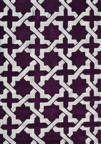 Rug Market America Pop Accents Etchy Aubergine/White Area main image