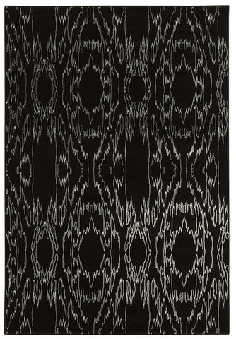 Linon Prisma Collection RUGPA01 Black/White Area Rug main image