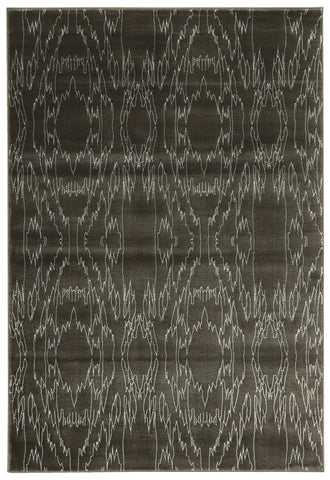 Linon Prisma Collection RUGPA05 Charcoal/White Area Rug main image