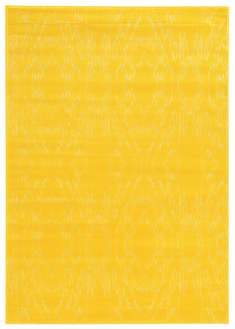 Linon Prisma Collection RUGPA08 Yellow/White Area Rug main image
