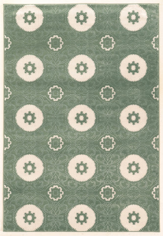 Linon Prisma Collection RUGPA10 Aqua/White Area Rug main image