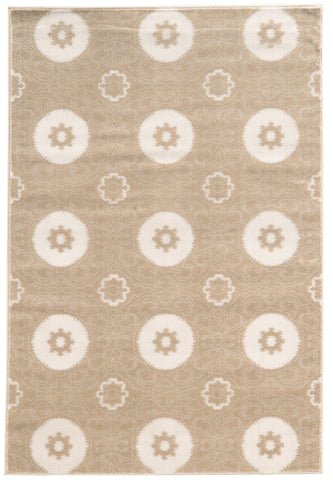 Linon Prisma Collection RUGPA11 Lt Beige/White Area Rug main image