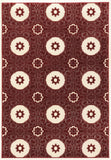 Linon Prisma Collection RUGPA13 Red/White Area Rug main image