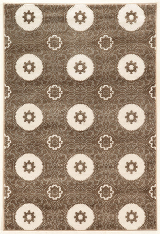 Linon Prisma Collection RUGPA15 Brown/White Area Rug main image