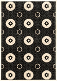 Linon Prisma Collection RUGPA16 Black/White Area Rug main image