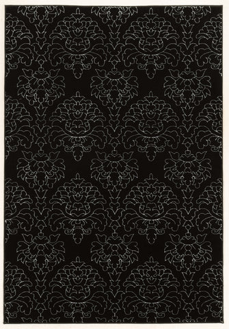 Linon Prisma Collection RUGPA17 Black/White Area Rug main image
