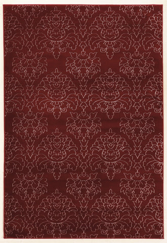 Linon Prisma Collection RUGPA19 Red/White Area Rug main image