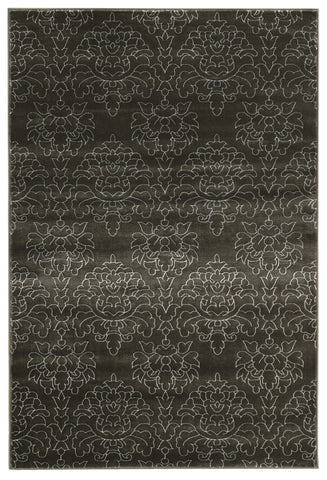 Linon Prisma Collection RUGPA21 Charcoal/White Area Rug main image