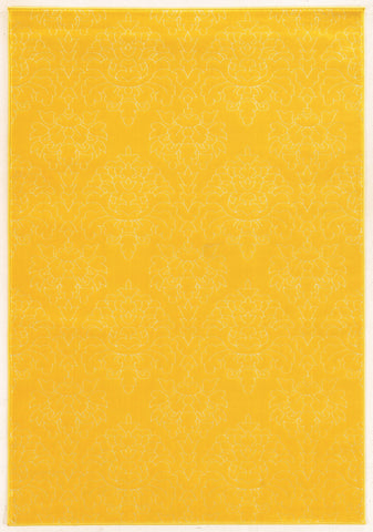 Linon Prisma Collection RUGPA24 Yellow/White Area Rug main image