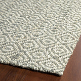 Kaleen Paloma PAL02-75 Grey Area Rug Close-up Shot