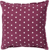 Surya Polka Dot Perfect PD-003 Pillow 22 X 22 X 5 Poly filled