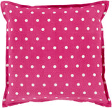 Surya Polka Dot Perfect PD-004 Pillow 18 X 18 X 4 Down filled