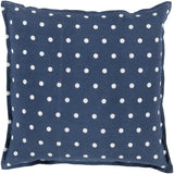 Surya Polka Dot Perfect PD-009 Pillow 22 X 22 X 5 Down filled
