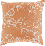 Surya Pedal Power Bold Bicycles PDP-003 Pillow by Mike Farrell