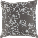 Surya Pedal Power Bold Bicycles PDP-005 Pillow by Mike Farrell