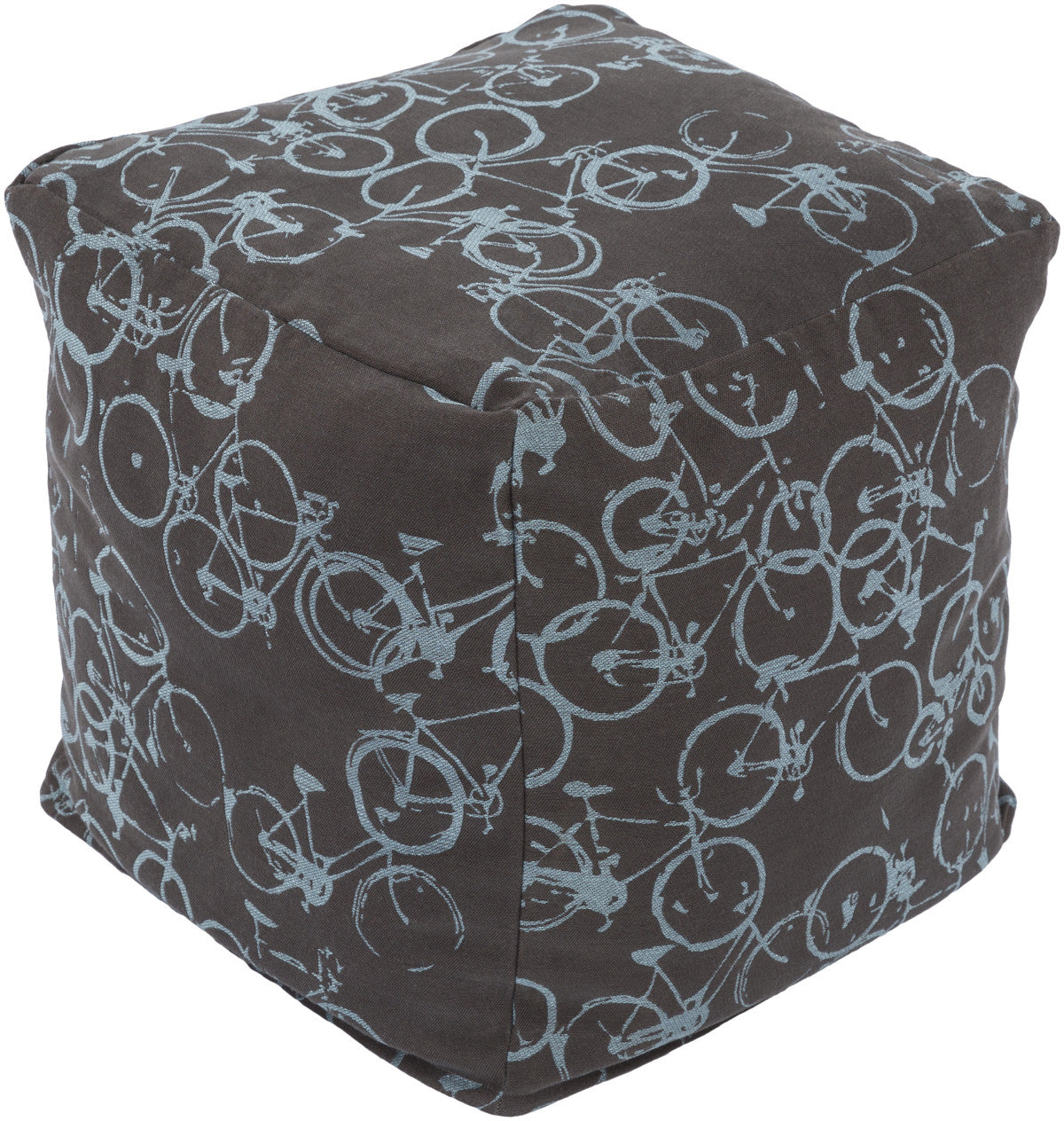 Surya Peddle Power PDPF-001 Brown Pouf by Mike Farrell