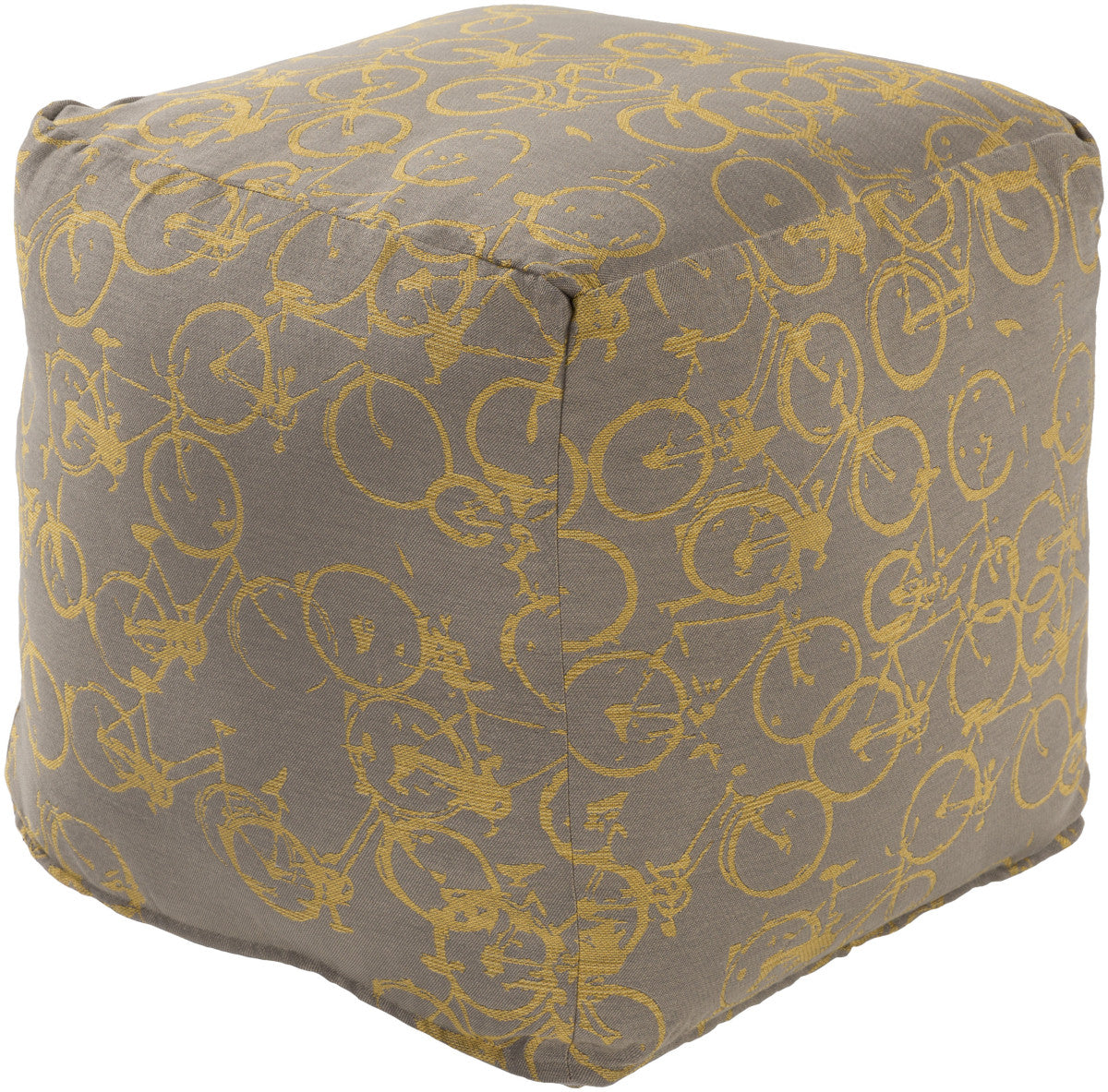 Surya Peddle Power PDPF-002 Neutral Pouf by Mike Farrell
