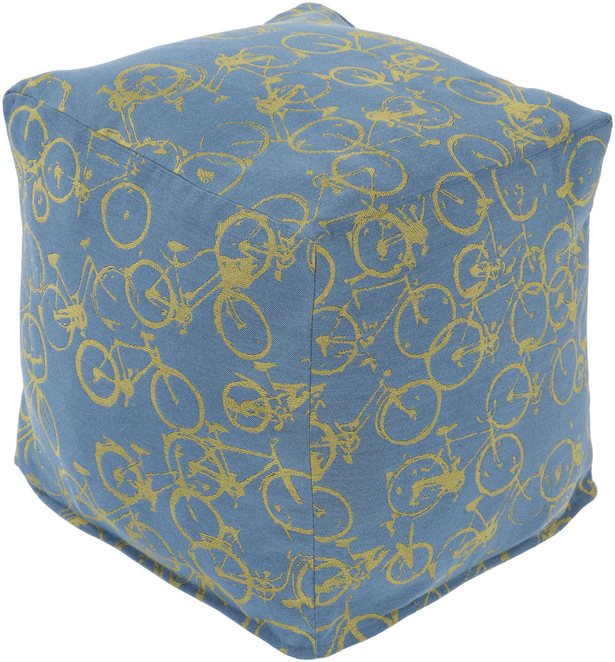 Surya Peddle Power PDPF-004 Blue Pouf by Mike Farrell