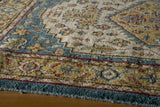 Momeni Persian Garden PG-03 Teal Blue Area Rug Closeup