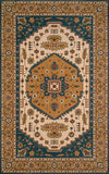 Momeni Persian Garden PG-03 Teal Blue Area Rug
