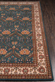 Momeni Persian Garden PG-12 Teal Blue Area Rug Closeup