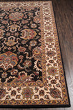 Momeni Persian Garden PG-14 Charcoal Area Rug Closeup
