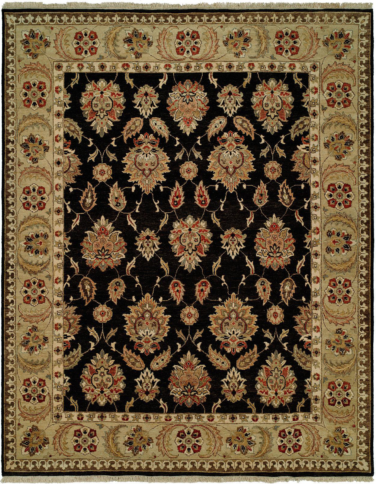 Kalaty Pasha PH-973 Black/Gold Area Rug main image