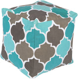 Surya Playhouse PHPF-010 Blue Pouf 18 X 18 X 18 Cube
