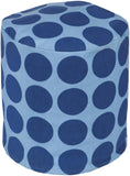 Surya Playhouse PHPF-016 Blue Pouf 18 X 18 X 18 Cylinder