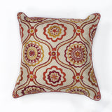 KAS Pillow L122 Ivory/Red Mosaic main image