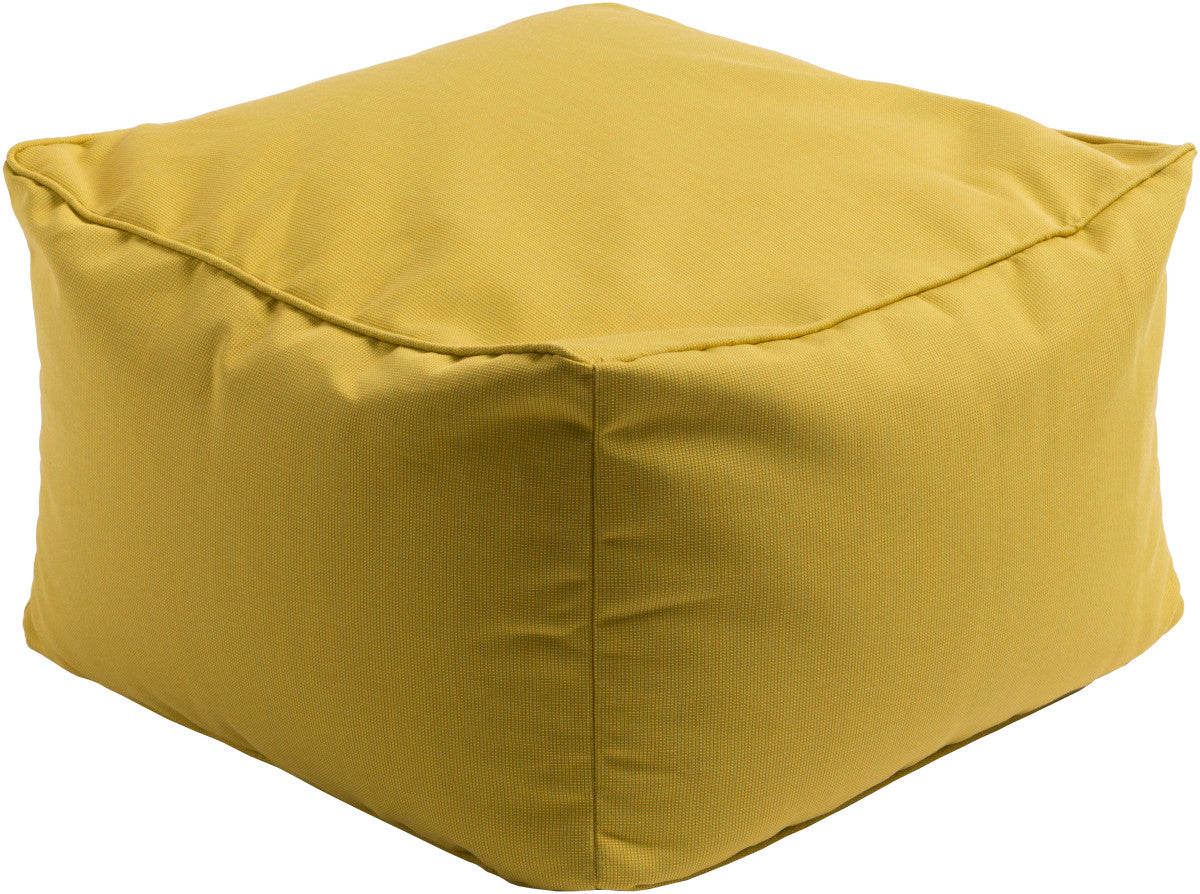 Surya Piper PIPF-004 Yellow Pouf