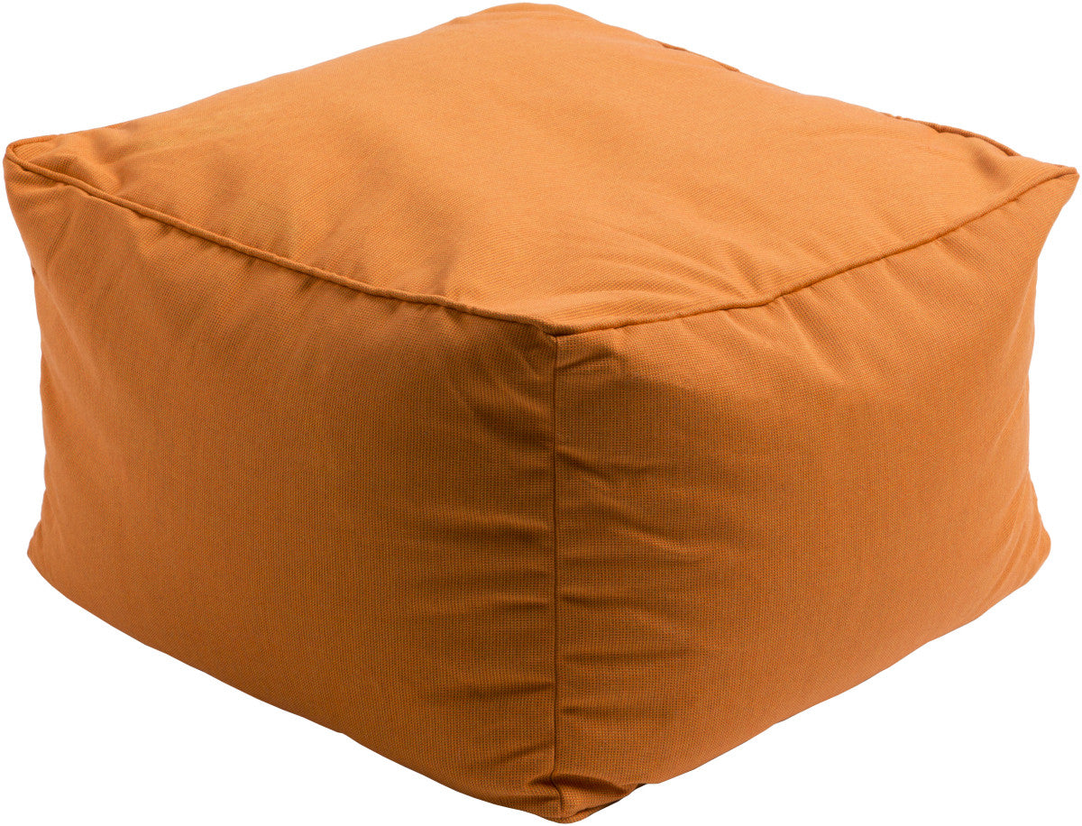 Surya Piper PIPF-005 Orange Pouf