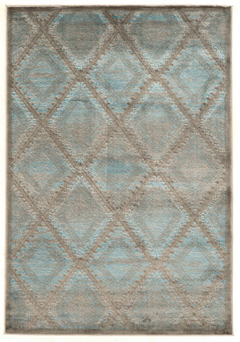 Linon Platinum Collection RUGPM08 Blue/Black Area Rug main image