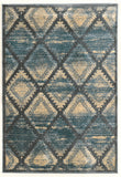 Linon Platinum Collection RUGPM10 Blue/Cream Area Rug main image