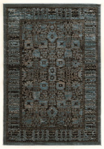 Linon Platinum Collection RUGPM11 Blue/Black Area Rug main image