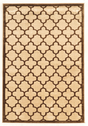 Linon Platinum Collection RUGPM21 Brown/Cream Area Rug main image