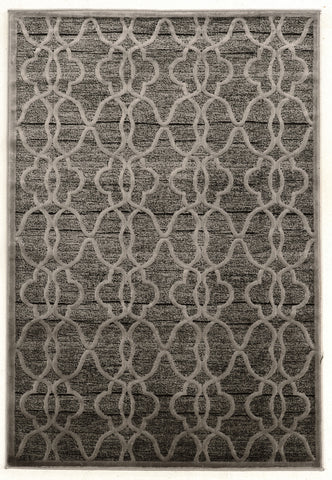 Linon Platinum Collection RUGPM24 Grey/Black Area Rug main image