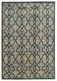 Linon Platinum Collection RUGPM25 Blue/Cream Area Rug main image