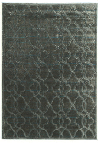 Linon Platinum Collection RUGPM26 Blue/Black Area Rug main image