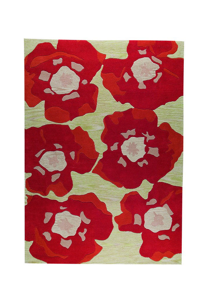 Mat Vinson Poppy Orange Area Rug Incredible Rugs And Decor