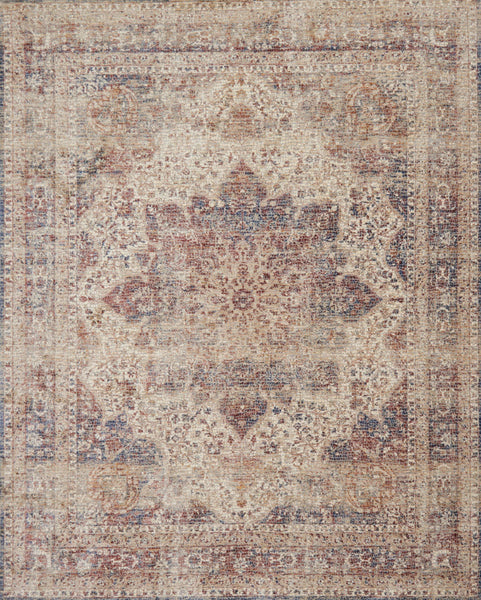 Loloi Porcia Pb 05 Ivory Red Area Rug Incredible Rugs