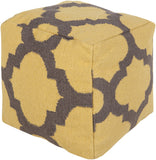 Surya P-151 Yellow Pouf