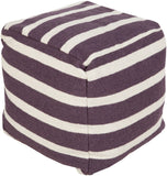 Surya P-159 Purple Pouf main image